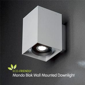 Led Wall Downlights Mondo Blok Wall Mounted Downlight